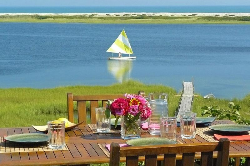 Views from Deck and Most Rooms are Expansive and Spectacular - ALDEM -  Gorgeous Waterfront Home, Magnificent Views of the Atlantic,  Great Kayaking, Walk to Private Association Stonewall Beach, Hi Speed Internet, Mooring for 40 foot boat - Chilmark - rentals