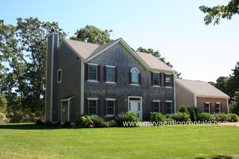 Exterior of House - BRANF - Exquistie Contemporary Home in Fresh Pond Estates,  Screened Porch, Spacious Deck, AC, Wifi, Beautifully Furnished, Bike Paths at the head of the Road - Oak Bluffs - rentals