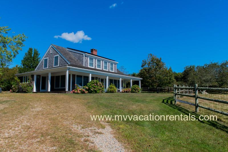 Wrap Around Porch, Lovely South Shore Waterviews - LORUJ - Spacious Ocean View Home,  Private Association Beach - South Shore - Chilmark - rentals