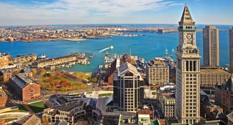 Aerial View of Custom House - Heart of Boston - Marriott's Custom House Suite - Boston - rentals
