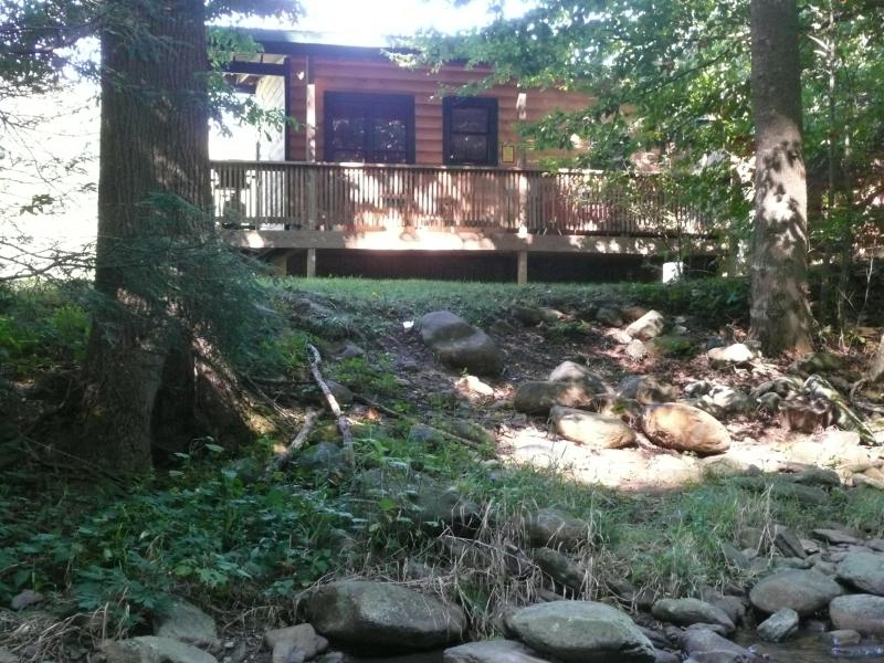 Guest cabin view from Helton Creek - Helton Creek Guest Cabin - Lansing - rentals