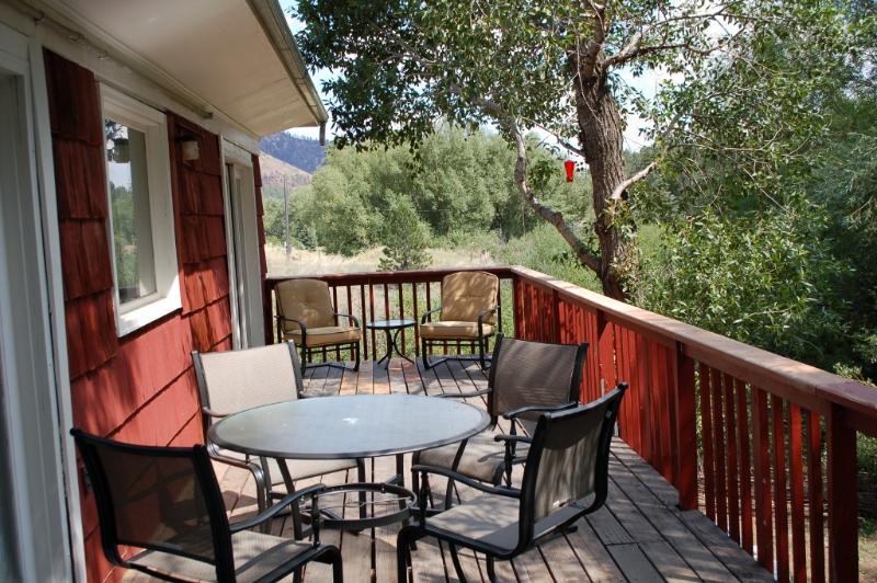Your Private Deck - Pikes Peak Jacuzzi Suite on a cool Mountain Stream - Cascade - rentals