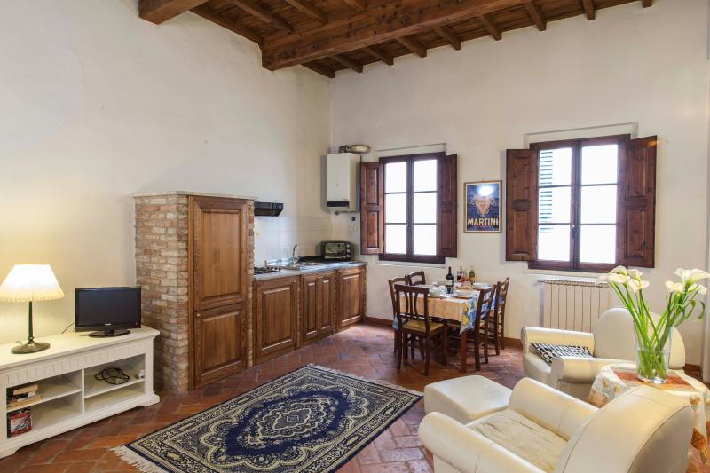 Living room and kitchen - Apartment David in the heart of Florence downtown - Florence - rentals