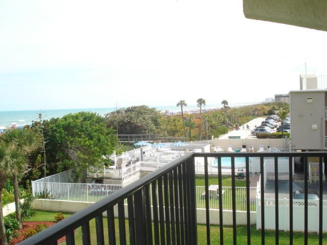 View looking south at Alan Shepard Park - Sea Oats Condominiums - Cocoa Beach - rentals