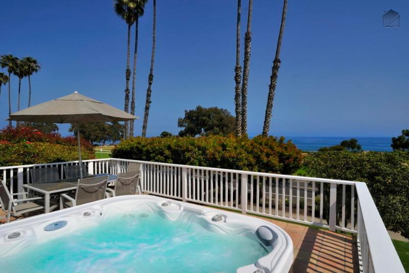 The rooftop deck is now complete with a spa - and an ocean view! - Mesa home with rooftop patio and ocean views is steps from Shoreline Park - SB Oceanview - Santa Barbara - rentals