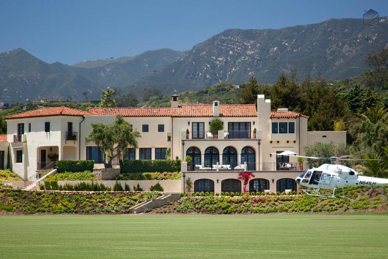There's plenty of room on the polo field for your helicopter should you need a place to park it. - The ultimate in Luxury- Italian style villa with ocean views at SB polo club. - Villa Sevillano - Carpinteria - rentals