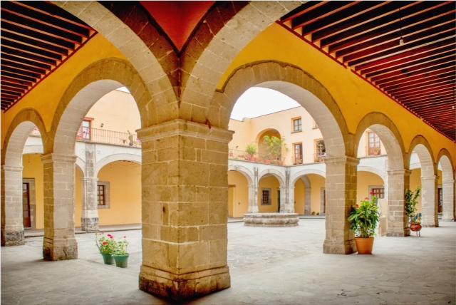 Interior Patio - Downtown Apartment Casa El Santo - Mexico City - rentals