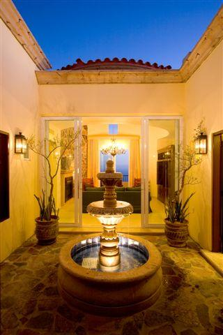 Fountain at villa entrance - Spectacular Montecristo Luxury Villa - Nov. 1 -16 - Cabo San Lucas - rentals