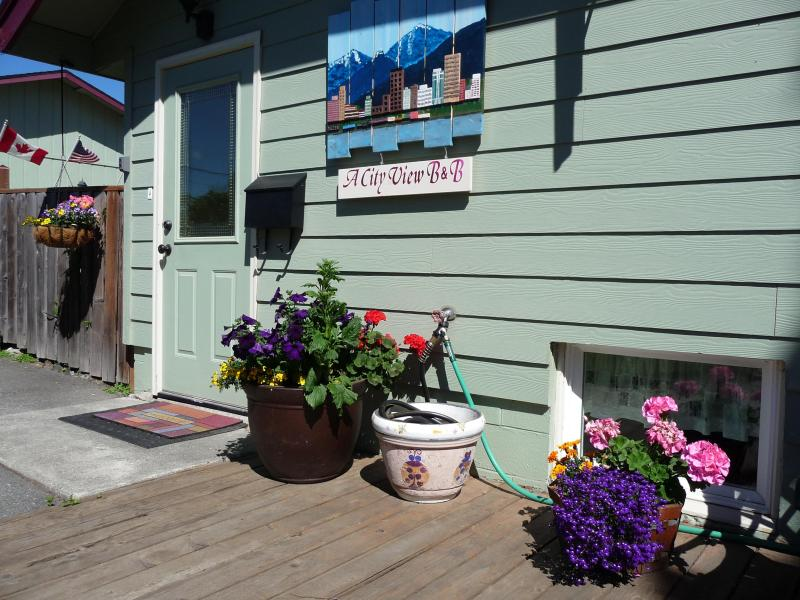 B & B Entry Area - A City View B & B Suite Downtown - Government Hill - Anchorage - rentals