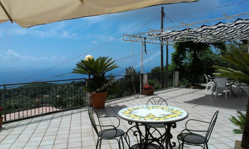 splendid panoramic terrace with sea view - Villa Mimosa - Favaro - rentals