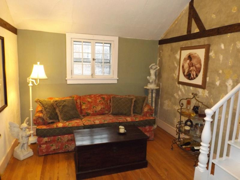 Livingroom view from the entrance - Cottage apartment center of Rhinebeck Village - Rhinebeck - rentals