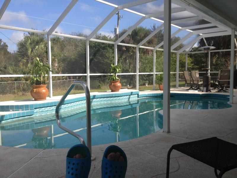 pool view - Private heated saltwater pool home! Summer special - Port Charlotte - rentals