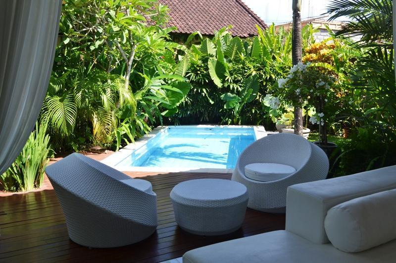 swimming pool located next to living area - Bali Villas R us - 2 bedrooms cute design villa seminyak - Seminyak - rentals