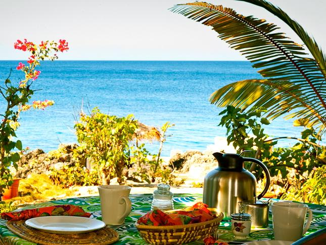 Enjoy morning coffee on your private veranda - Beautiful & Updated Seafront Cottage - Negril - rentals