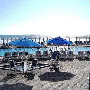The pool deck - Beach Front Condo Resort - New Smyrna Beach, FL - New Smyrna Beach - rentals