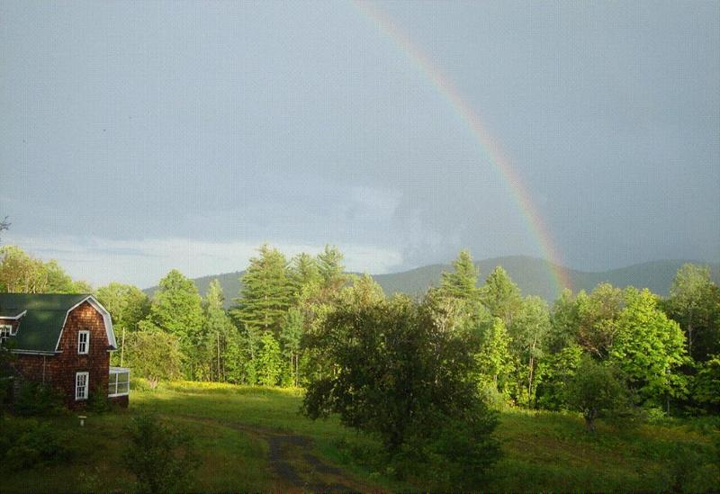 Rainbow over Bird Camp - Authentic Adirondack Camp - North River - rentals