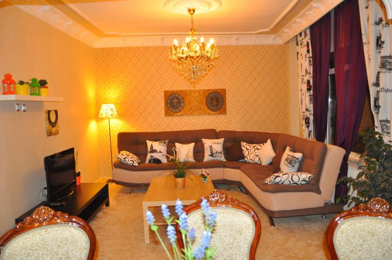 Living room - Comfy&bright 140m2 3+1 Apart In Center Of Istanbul - Istanbul - rentals