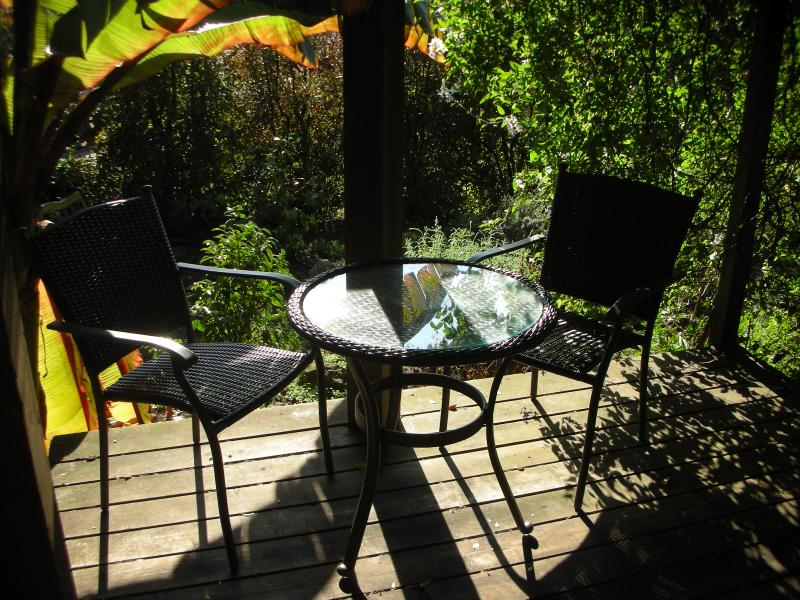 Deck overlooking the garden-Studio entrance - Charming Studio In Berkeley Hills - Berkeley - rentals