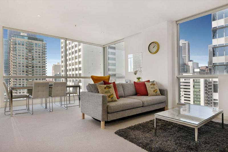 Melbourne Central City living area - Staycentral CBD; corporate 2 bedrooms gym pool QV building, Central CBD, - Melbourne - rentals
