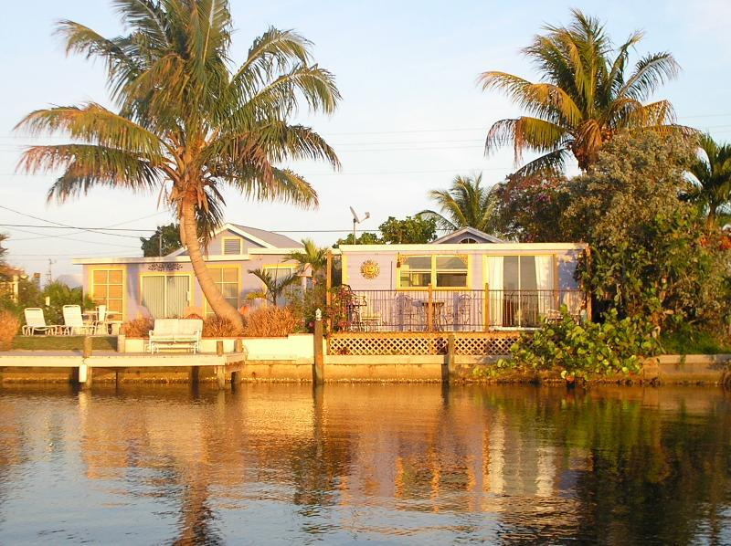 view of the dock and patio from the water - Fernando's Hideaway On The Bay In Matlacha - Matlacha - rentals