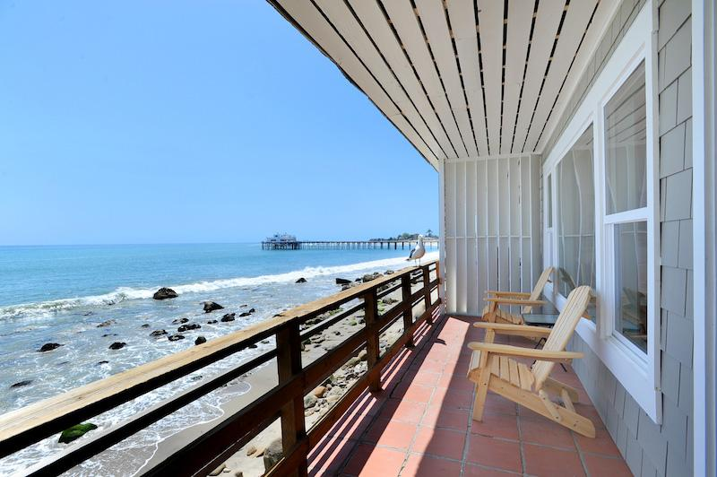 Oceanfront deck with unobstructed ocean views - Fabulous Oceanfront Cottage on Dry Sandy Beach - Malibu - rentals
