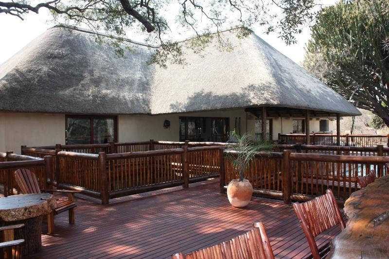Front View & Deck - Holiday Home Rental In Wildlife Estate 50 - Hoedspruit - rentals