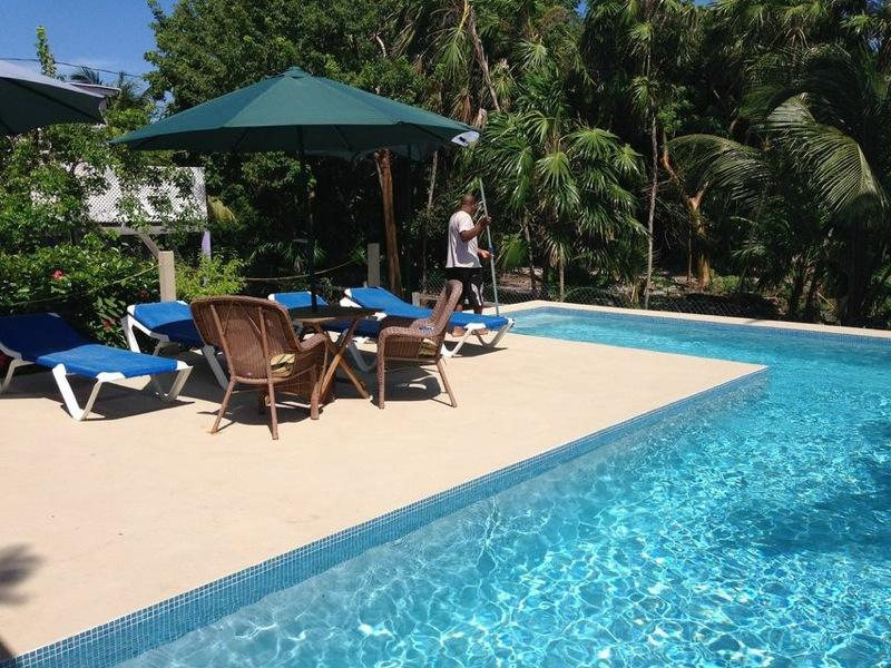 shared pool - Hummingbird Pink - Caye Caulker - rentals