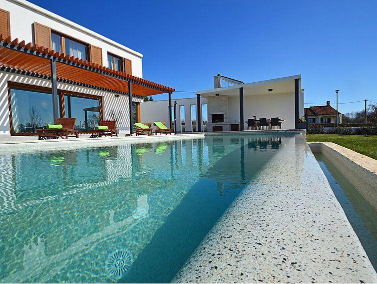 Modern, white, minimalist, and contemporary villa Gialla - Image 1 - Sveti Petar u Sumi - rentals