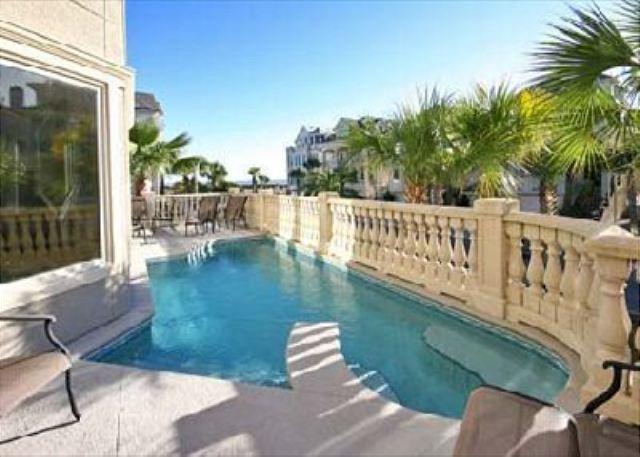 Pool Area - Collier Court 3, Luxury 6 Bedrooms, Private Pool, Elevator, Sleeps 14 - Hilton Head - rentals