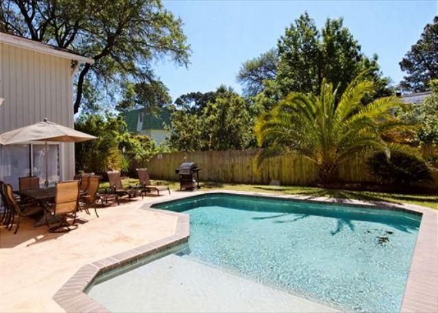 Pool Area - Folly Field 44-A, 3 Bedroom, Private Pool, Near Beach, Sleeps 6 - Hilton Head - rentals