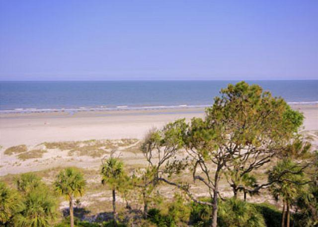 Balcony View - Top Floor 3BR/3BA Penthouse Villa Most Spectacular Oceanfront View Available - Hilton Head - rentals