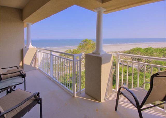 Oceanfront View from Balcony - Hampton 6508, 3 Bedroom, Ocean Front View, Ocean Pool & Hot Tub, Sleeps 6 - Hilton Head - rentals