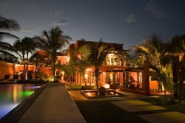 An evening view from the beach. - Private Luxury Villa on Caribbean Riviera Maya - Tulum - rentals