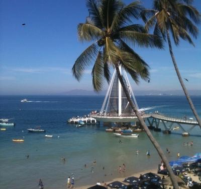 North View From Terrace of the Los Muertos Pier - Vibrant & Airy 2BR w Terrace & Dazzling Ocean View - Puerto Vallarta - rentals