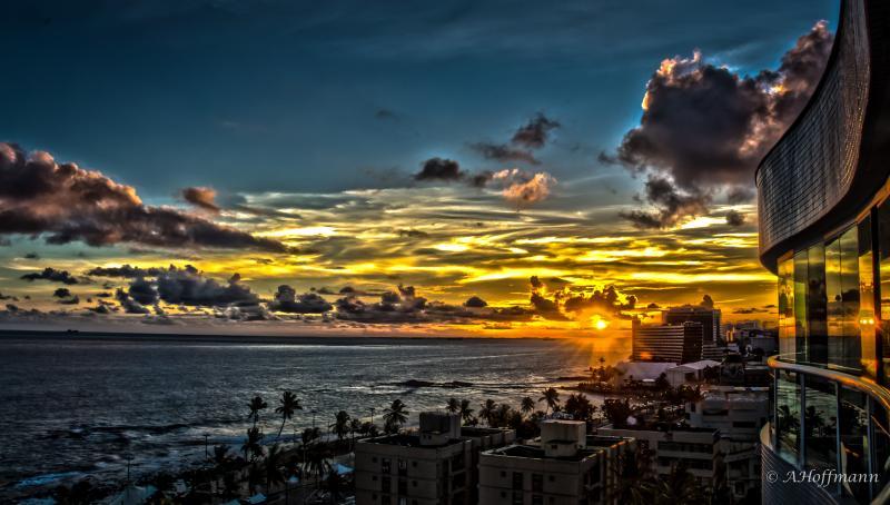 Sunset at Balcony - Coverage apartment in Salvador Bahia - Brasil - Salvador - rentals