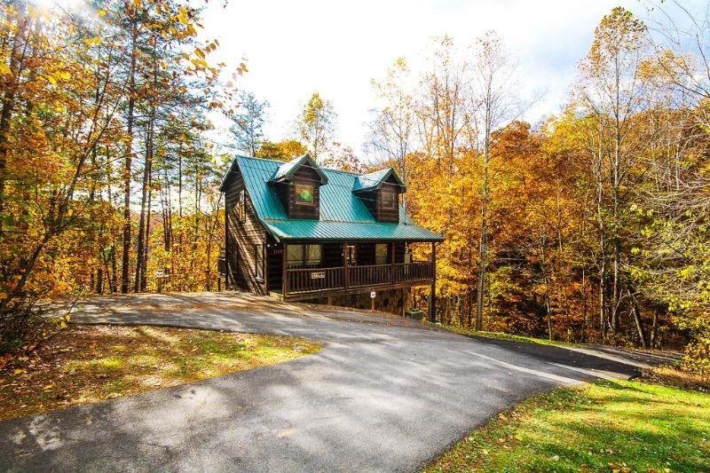 Bear Necessities late Fall View - Bear Necessities Cabin  Pet friendly in the Smokys - Sevierville - rentals