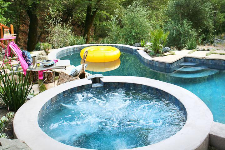 Solar heated pool April-October. Hot tub year round. - Modern 3br Home W/Pool & Seasonal Creek in Sonoma. - Kenwood - rentals