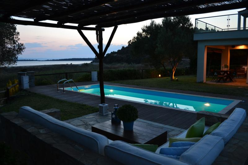 Patio - AZAPIKO VILLA BEACHFRONT LUXURY HOUSE - Neos Marmaras - rentals