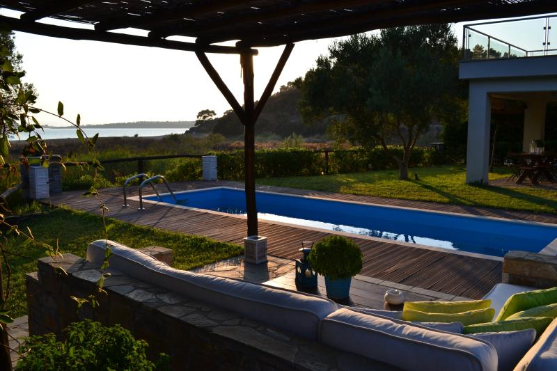 Patio - AZA VILLA BEACHFRONT LUXURY HOUSE - Neos Marmaras - rentals