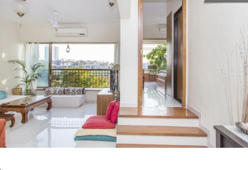 Living area - Spacious & Airy 2 Bed apartment with private balcony - Mumbai (Bombay) - rentals