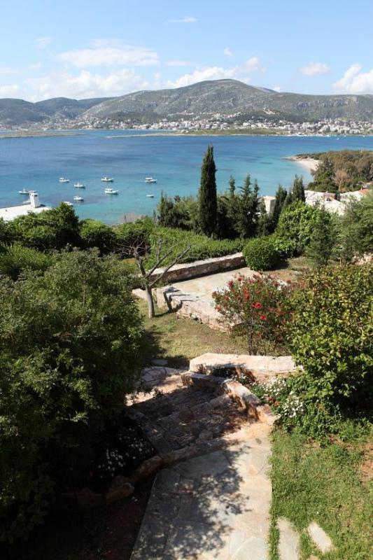 view from terrace - Porto Rafti home by the sea, Greece 2 pools tennis - Skala Oropou - rentals