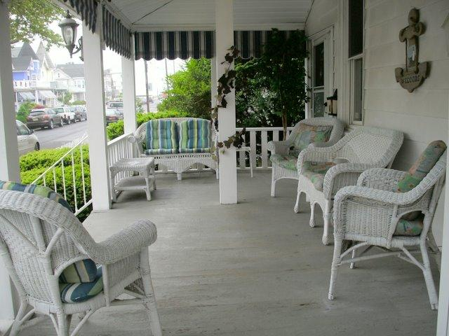 Front Porch - Sweet Apartment on 2nd Beach Block In Beautiful, V - Ocean Grove - rentals
