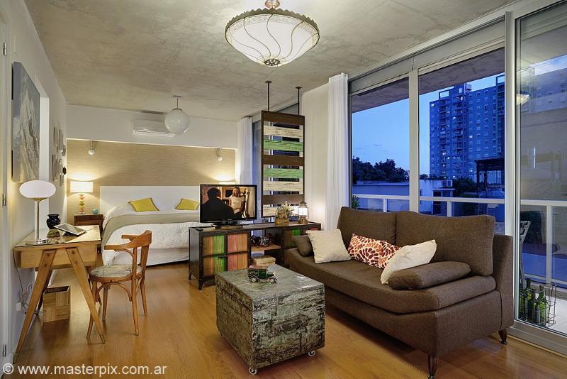 Capture of living and bed area. - Unique Studio La PAZ - Palermo Hollywood - Buenos Aires - rentals