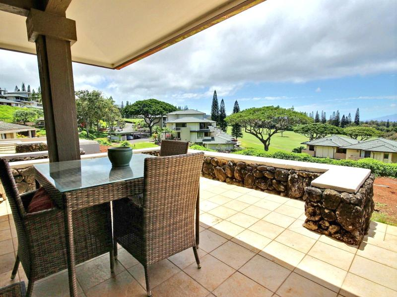 Massive lanai with seating and gorgeous views - Kapalua Golf Villas #KGV-19P3 Kapalua, Maui, Hawaii - Kapalua - rentals