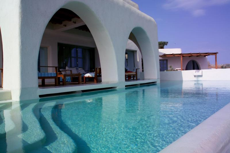 The Pool is holding around the house - VILLA MYKONOS WITH PRIVATE POOL FOR 10 PERSONS - Mykonos - rentals
