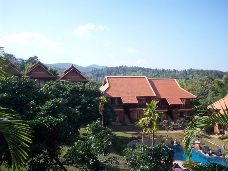 mountain and pool view from bedroom - Thai health resort Townhouse- utilities included - Doi Saket - rentals