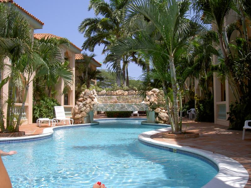 LARGE LAP POOL AND WATERFALLS - 2nd Floor newly renovated hidden jem - Palm/Eagle Beach - rentals