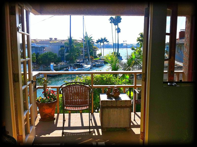Alamitos Bay view from a bedroom - LUXURY OCEAN FRONT home sleeps 8 on the canal on - Long Beach - rentals