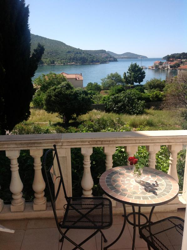 Sea View from Terrace  - Overlooking Zaton Bay - Apartments Villa Rosa #1 - Dubrovnik/Zaton - Lozica - rentals