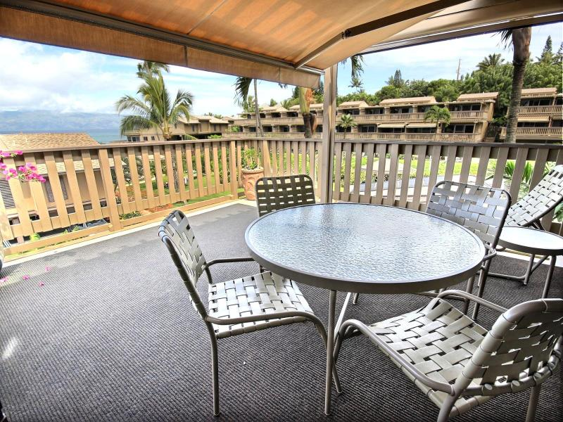 Large lanai to enjoy that morning coffee or evening cocktail.  - Kahana Sunset #KS-E11 Kaanapali, Maui, Hawaii - Ka'anapali - rentals